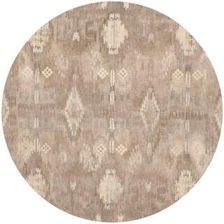 Safavieh Handmade Wyndham Natural Cotton-Canvas New Zealand Wool Rug (7' Round)
