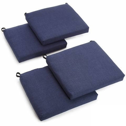 Blazing Needles 20-inch Solid Indoor/Outdoor Chair Cushion (Set of 4)