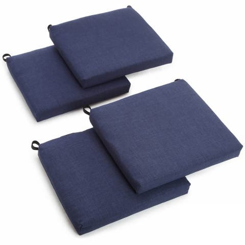 Blazing Needles 20-inch Solid Indoor/ Outdoor Chair Cushions (Set of 4)