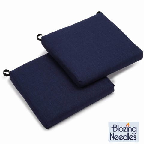 "Blazing Needles 20-inch Indoor/Outdoor Chair Cushion (Set of 2) - 19"" x 19"""
