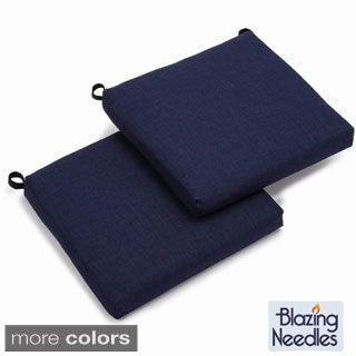 Blazing Needles 19-inch Outdoor Spun Poly Cushions (Set of 2)