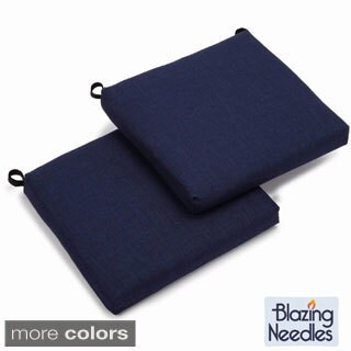 Blazing Needles 20-inch Chair Pad Cushion (Set of 2)