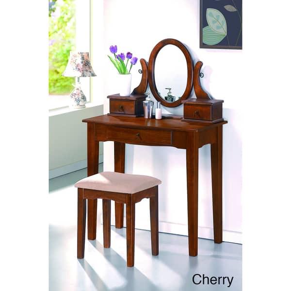 Shop Katrell 2-piece Bedroom Vanity Set - Free Shipping ...
