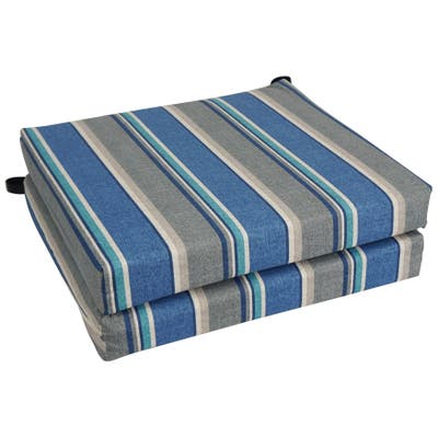 """Blazing Needles 20-inch All-Weather Chair Cushion (Set of 2) - 19"""" x 19"""""""