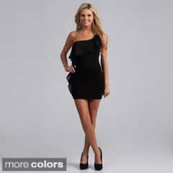 Miso Women's Single Shoulder Ruffle Dress|https://ak1.ostkcdn.com/images/products/7715815/Miso-Womens-Single-Shoulder-Ruffle-Dress-P15120383b.jpg?impolicy=medium