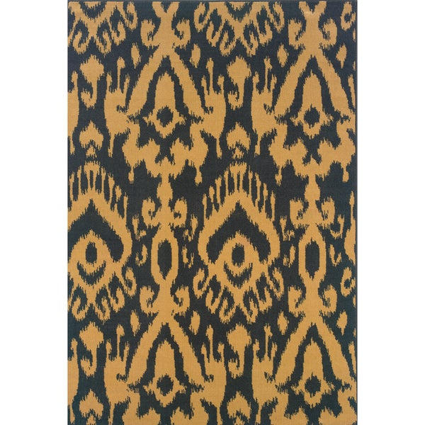 Indoor Blue/ Ivory Area Rug (6'7 x 9'6)
