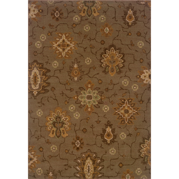 Brown/ Gold Area Rug (6'7 x 9'6)