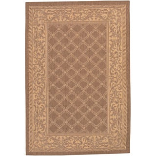 Recife Garden Lattice/ Cocoa Natural Area Rug (2' x 3'7)
