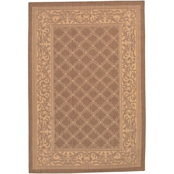 Couristan Recife Garden Lattice/Cocoa-Natural Indoor/Outdoor Area Rug - 2' x 3'7