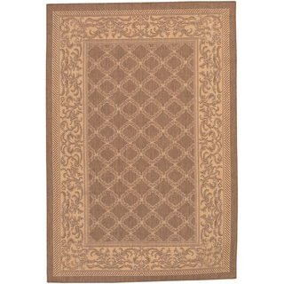 Recife Garden Lattice/ Cocoa Natural Area Rug (3'9 x 5'5)