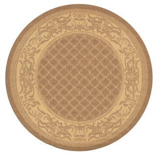 Recife Garden Lattice/ Cocoa-Natural Round Rug (8'6)