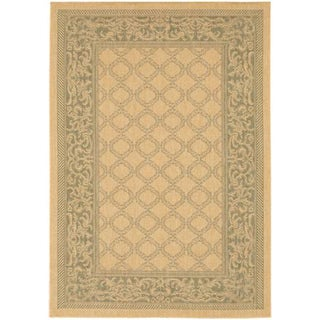 Recife Garden Lattice/ Natural Green Rug (3'9 x 5'5)