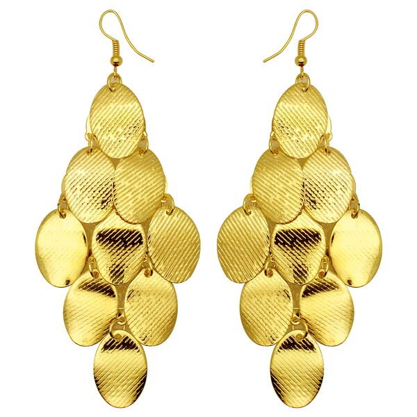 Kate Marie Goldtone Textured Cluster Earrings