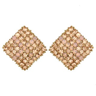 Kate Marie Rose Goldtone Rhinestone Earrings
