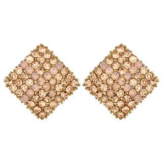 Kate Marie Rose Goldtone Rhinestone Earrings