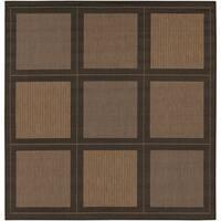 Cocoa/Black Flatweave Recife Rug (8'6 Square)