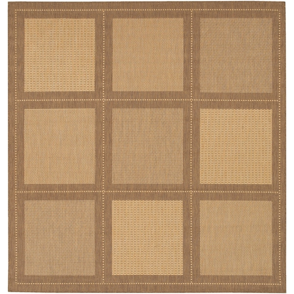 Recife Summit Natural and Cocoa Rug (8'6 Square) - 8'6 x 8'6