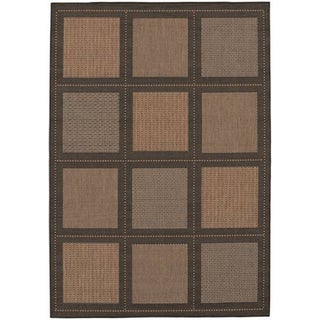 Power-loomed Couristan Recife Summit Cocoa and Black Rug (3'9 x 5'5)