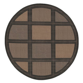 "Recife Summit/Cocoa-Black 8'6"" Round Rug"