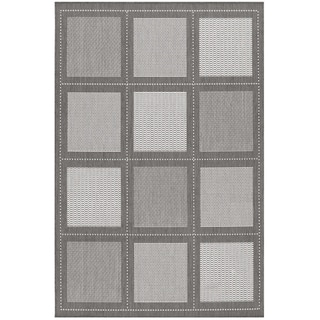 Recife Summit Grey and White Rug (3'9 x 5'5)