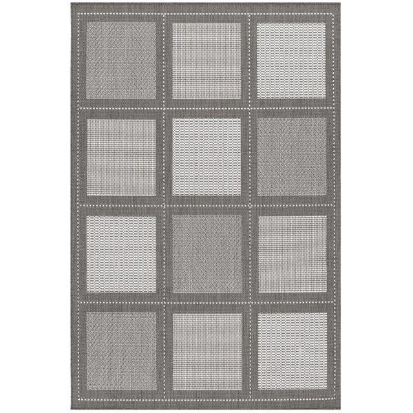 Recife Summit Grey- White Indoor/Outdoor Rug - 8'6 x 13'