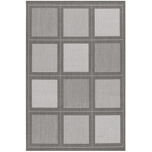 Recife Summit Grey-White Indoor/Outdoor Rug - 7'6 x 10'9