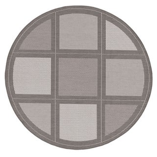 Couristan Recife Summit/ Grey and White Area Rug (7'6 Round)