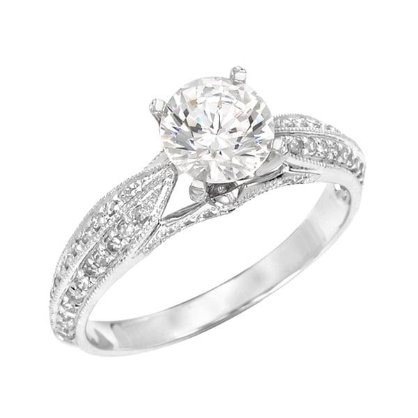 14k White Gold 1ct TDW Diamond Engagement Ring (H-I, SI1-SI2)