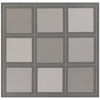 Recife Summit/ Grey White Square Rug (8'6 x 8'6)