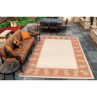 Couristan Recife Tropics Natural-Terracotta Indoor/Outdoor Rug - 7'6 x 10'9