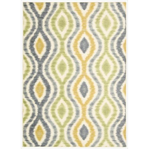 Waverly Aura of Flora Optical Delights Wasabi Area Rug by Nourison (5'3 x 7'5)