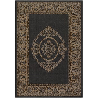 Recife Antique Medallion Black Cocoa Rug (3'9 x 5'5)