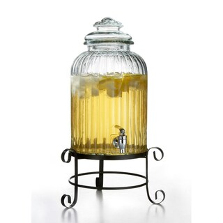 Style Setter Springfield 3-Gallon Beverage Dispenser with Base