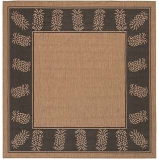Cocoa/ Black Recife Rug (8'6 Square)