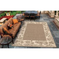 Couristan Recife Island Retreat/Beige-Natural Indoor/Outdoor Rug - 5'10 x 9'2