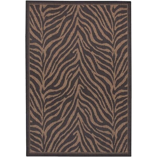 Pergola Cape Black-Cocoa Indoor/Outdoor Area Rug - 5'3 x 7'6