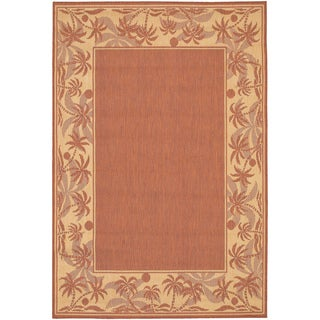 Recife Island Retreat Terra Cotta Natural Rug (5'3 x 7'6)