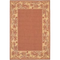 Couristan Recife Island Retreat Terracotta Natural Indoor/Outdoor Rug - 7'6 x 10'9