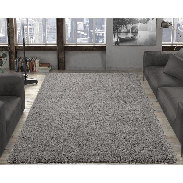 Ottomanson Cozy Solid Color Contemporary Soft Area Rug