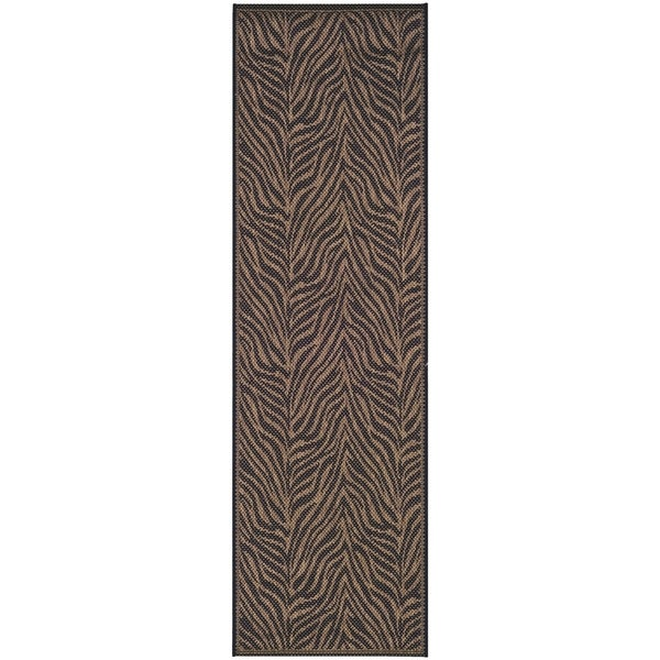 Shop Couristan Recife Zebra Black Cocoa Indoor Outdoor