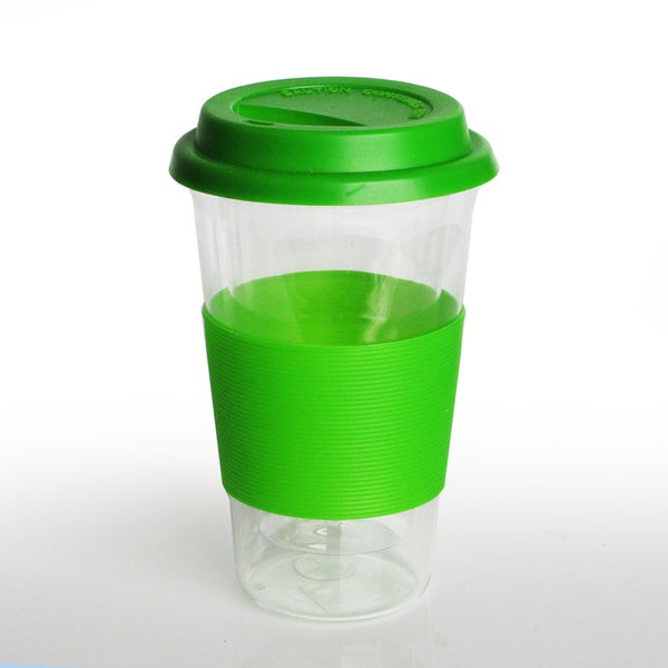 Style Setter Green Silicone Holder and Glass Cup