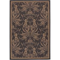 Recife Garden Cottage Black-Cocoa Indoor/Outdoor Runner Rug - 2'3 x 11'9