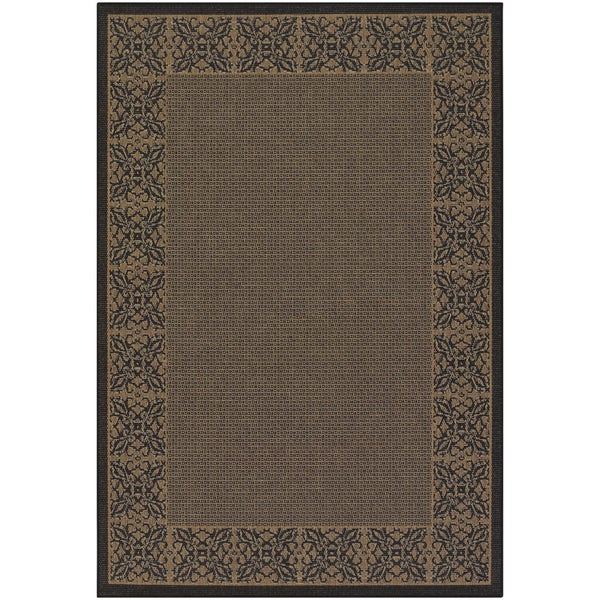 Recife Summer Chimes Cocoa and Black Area Rug (8'6 x 13')