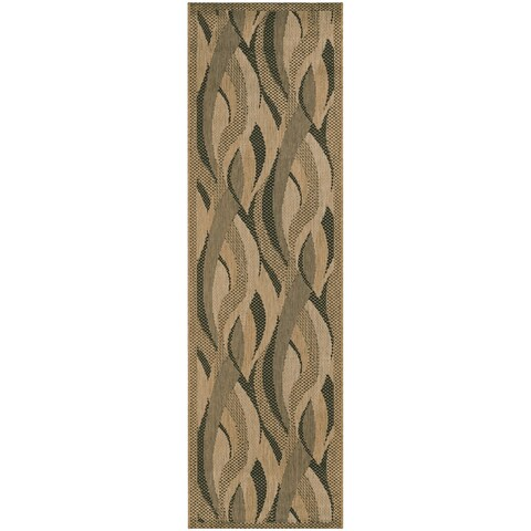 Recife Seagrass Natural and Black Runner Rug - 2'3 x 11'9