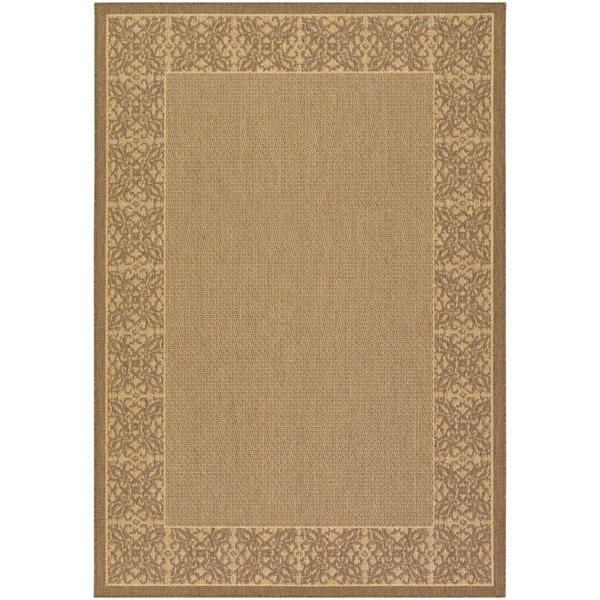 Recife Summer Chimes Natural and Cocoa Area Rug (3'9 x 5'5)