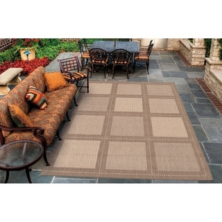 Couristan Recife Summit/Natural-Cocoa Indoor/Outdoor Area Rug - 5'10 x 9'2