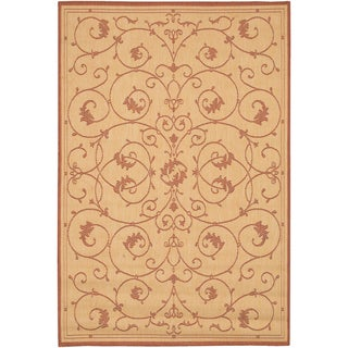 Recife Veranda Natural and Terra-Cotta Area Rug (3'9 x 5'5)