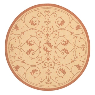 Recife Veranda Natural and Terra-Cotta Area Rug (7'6 Round)