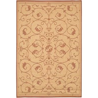 Recife Veranda Natura- Terracotta Indoor/Outdoor Rug - 8'6 x 13'