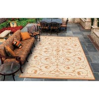 Couristan Recife Veranda Natura- Terracotta Indoor/Outdoor Rug - 8'6 x 13'